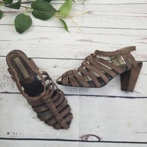 Banana Republic Gladiator Block Heel Sandals 9.5